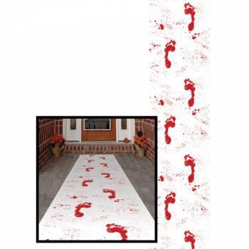Tapis trace de pas sanglante