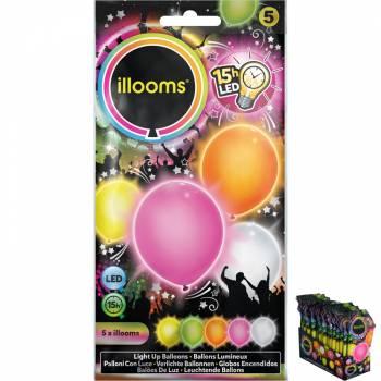 5 Ballons lumineux assortis