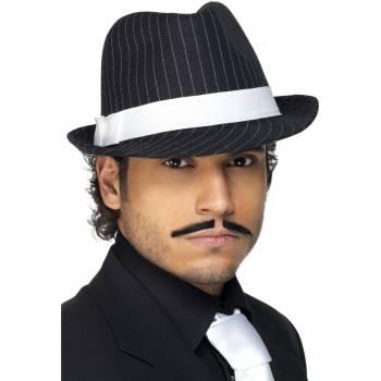 Chapeau borsalino noir et blanc