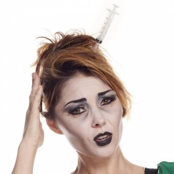 Serre tête Halloween seringue