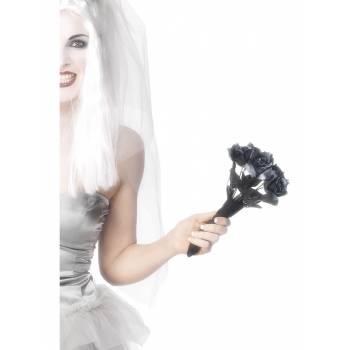 Bouquet de roses noir en plastique