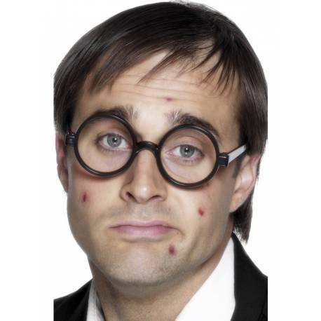 Paire de lunettes ronde pour compléter votre déguisement ou accessoiriser votre photobooth matière: plastique
