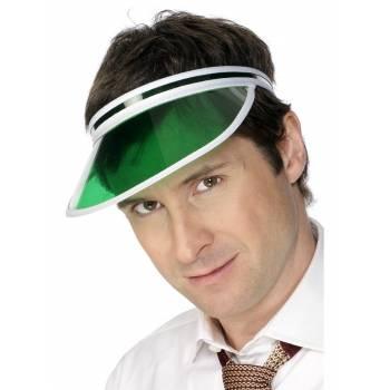 Casquette poker visière verte