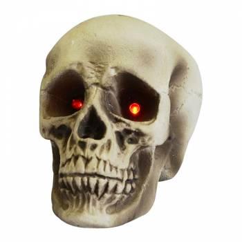 Crâne yeux lumineux