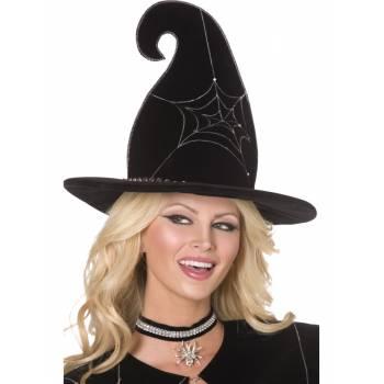 Chapeau sorcière araignée