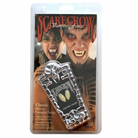 Dent de vampire blanche à fixer avec du fixateur à dent