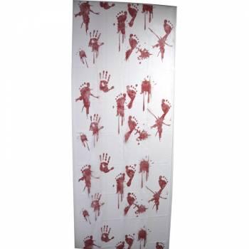 Décoration murale imprimé intissé traces sanglantes