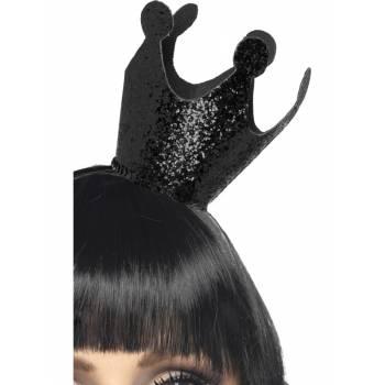 Serre tête mini couronne noir