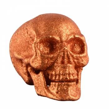 Crâne pailleté orange