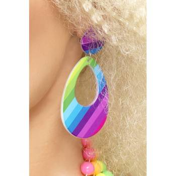 Boucles d'oreilles Multicolore