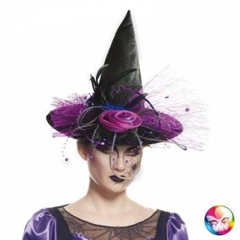 Chapeau de sorcière luxe violette
