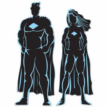 Décors silhouettes super héros