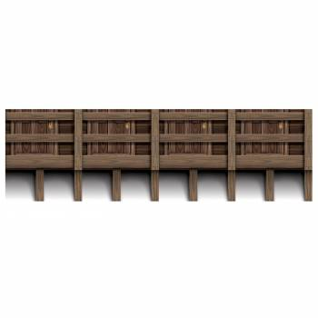 Frise balcon en bois