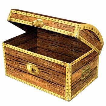 Coffre trésor en carton 30cm