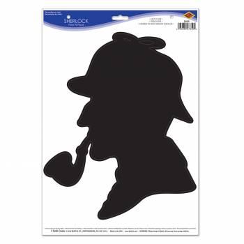 Décor Slhouette profil Sherlock Holmes autocollante
