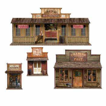 4 Décors western maison ville