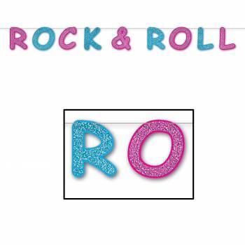 Banderole pailletée Rock n'roll