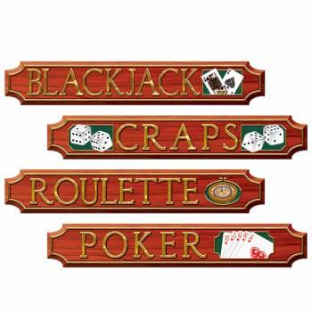 4 Pancartes de jeux casino