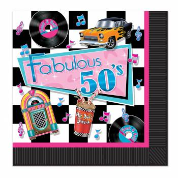 16 Serviettes Fabulous 50