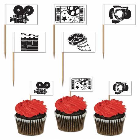 Paquet de 50 pics déco pour décorer vos cupcakes ou pour vos apéritifs Dimensions: 6.5 cm