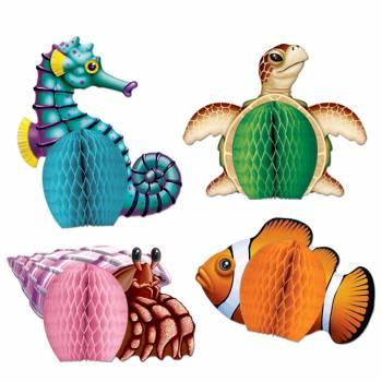 4 Décors créatures des mers 3D