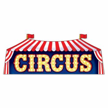 Pancarte chapiteau Circus en carton