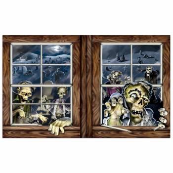 Décor mural Fenêtre Zombie