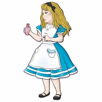 Figurine en carton Alice aux Pays des Merveilles