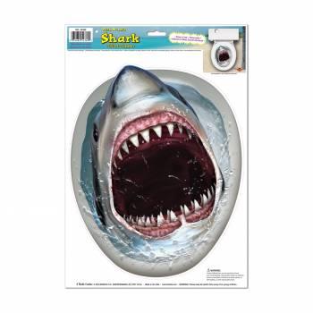 Décor cuvette de toilette Requin