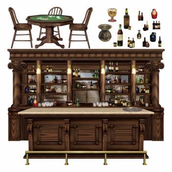 15 Décors western bar saloon