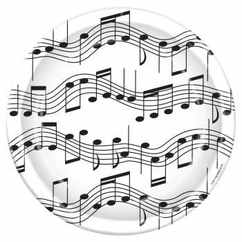 Lot de 8 assiettes Musique