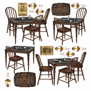 15 Décors western table saloon