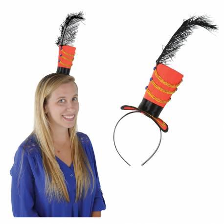 Magnifique serre tête avec mini chapeau Mme loyale vintage pour votre soirée vintage circus