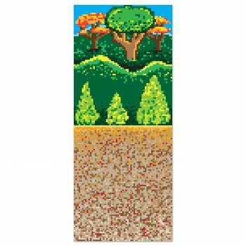 Toile ambiance mural forêt jeux vidéo