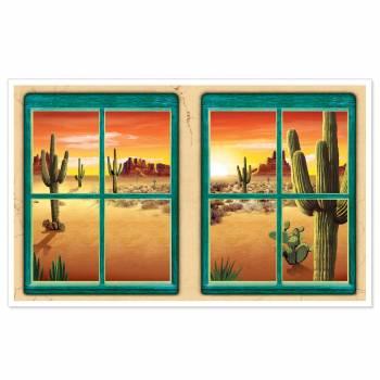 Décors fenêtre sur désert