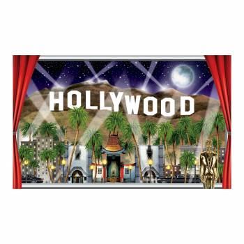 Décor géant nuit d'hollywood