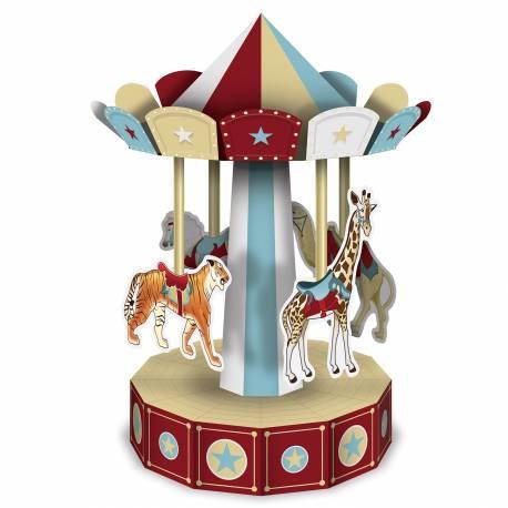 Manège en carton pour décorer votre table ou buffet de votre soirée vintage circus Matière: carton à monter Dimesnions : Hauteur 25cm