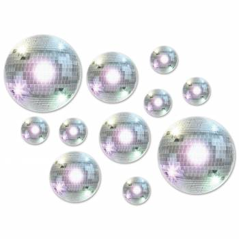 Assortiment 20 boules Disco en carton