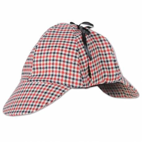 Casquette de détective idéal pour agrémenter un déguisement de Sherlock Holmes Taille unique adulte