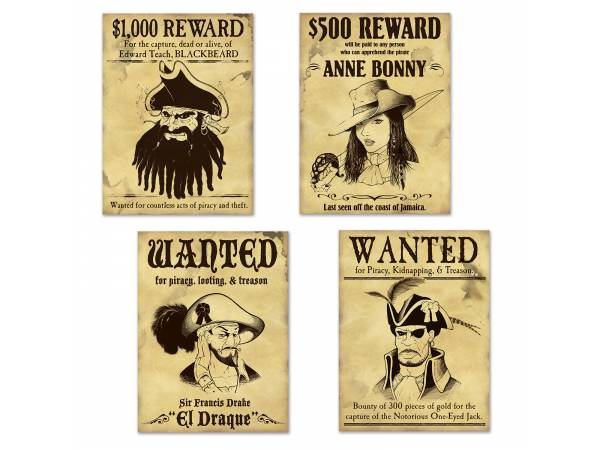 affiche wanted pirate