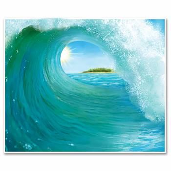 Décor mural vague de surf