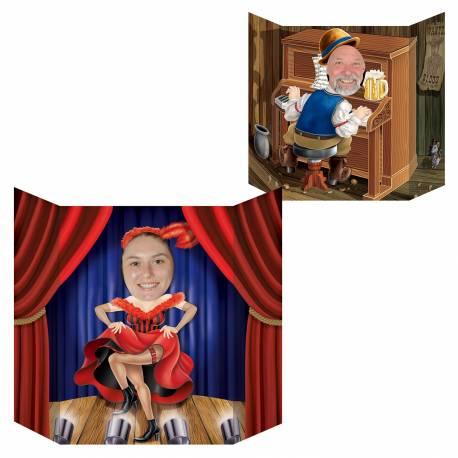 Pour prendre des photos inoubliables de vos invités ! Point photo en carton rigide sur le thème Saloon western, recto verso Dimensions:...