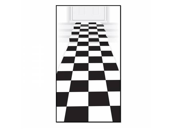Tapis intiss carreaux noir et blanc for Vans a carreaux noir et blanc