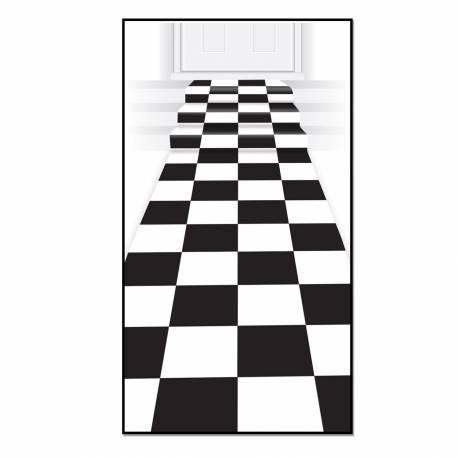 tapis intiss carreaux noir et blanc. Black Bedroom Furniture Sets. Home Design Ideas