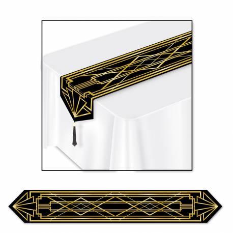 chemin de table jetable gatsby 1920. Black Bedroom Furniture Sets. Home Design Ideas