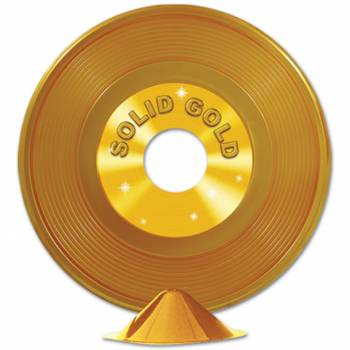 Centre de table disque d'or personnalisable