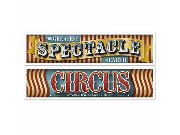 Banderoles vintage circus