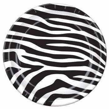 8 Assiettes Zebre