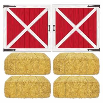 Décors foin et portes de grange américaine
