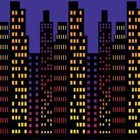 Décor mural en plastique souple pour la déco de votre salle de fête en 1 clin d'oeil ! Retrouvez vous à New york en 1 tour de main, la...